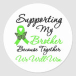 Lymphoma Support (Brother) Classic Round Sticker