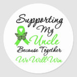 Lymphoma Support (Uncle) Classic Round Sticker