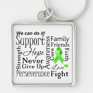 Lymphoma Supportive Words Keychain