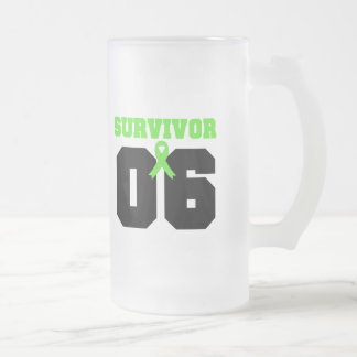 LYMPHOMA Survivor 06 YEARS 16 Oz Frosted Glass Beer Mug