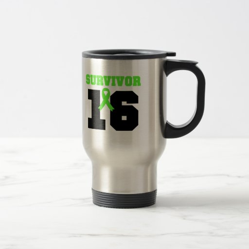 LYMPHOMA Survivor 16 YEARS Mugs