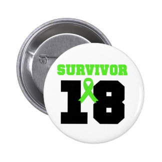LYMPHOMA Survivor 18 YEARS Gifts Buttons