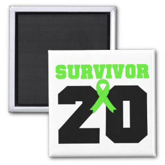 LYMPHOMA Survivor 20 Years Gifts 2 Inch Square Magnet