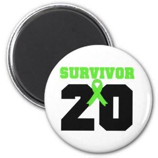 LYMPHOMA Survivor 20 Years Gifts 2 Inch Round Magnet