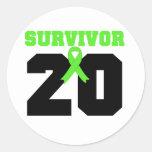 LYMPHOMA Survivor 20 Years Gifts Round Stickers