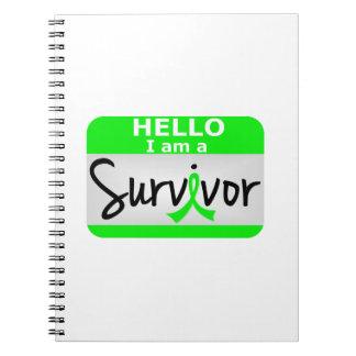 Lymphoma Survivor 24.png Spiral Notebooks