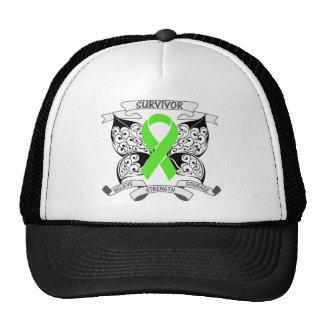 Lymphoma Survivor Butterfly Strength Mesh Hats