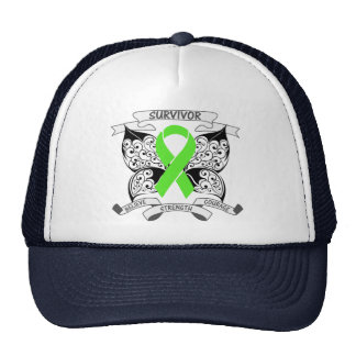 Lymphoma Survivor Butterfly Strength Trucker Hats