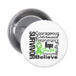 Lymphoma Survivor Collage Pins