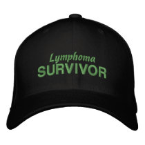 Lymphoma Survivor Embroidered Baseball Hat