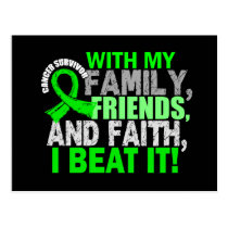 Lymphoma Survivor Family Friends Faith Postcard