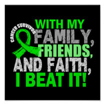Lymphoma Survivor Family Friends Faith Poster