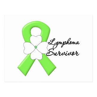 Lymphoma Survivor Flower Ribbon Postcard