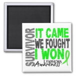 Lymphoma Survivor It Came We Fought I Won 2 Inch Square Magnet