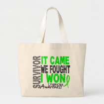 Lymphoma Survivor It Came We Fought I Won Large Tote Bag