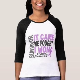 Lymphoma Survivor It Came We Fought I Won Tee Shirt
