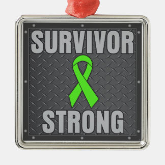 Lymphoma Survivor Strong Christmas Tree Ornament