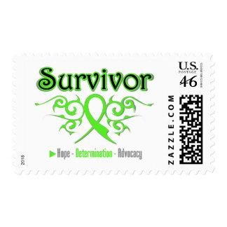 Lymphoma Survivor Tribal Ribbon Postage Stamps