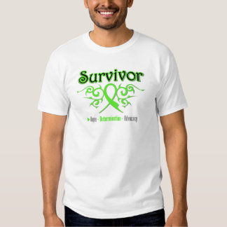 Lymphoma Survivor Tribal Ribbon Tees
