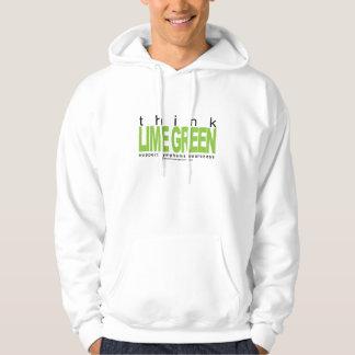 Lymphoma Think Lime Green Hoodie