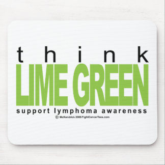 Lymphoma Think Lime Green Mouse Pad