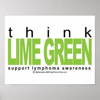 Lymphoma Think Lime Green Print