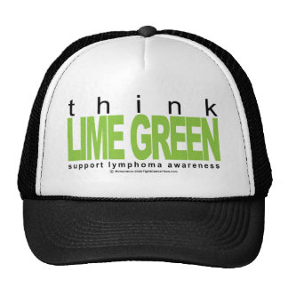 Lymphoma Think Lime Green Trucker Hat