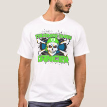 Lymphoma Tougher Than Cancer Skull T-Shirt