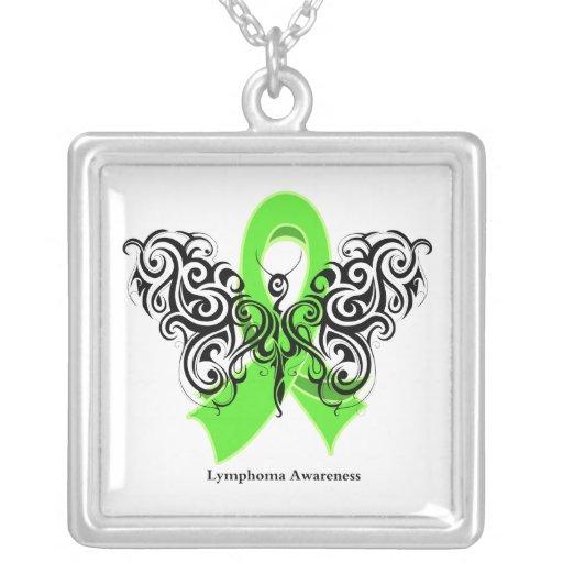 Lymphoma Tribal Butterfly Ribbon Custom Jewelry