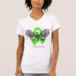 Lymphoma Tribal Butterfly Ribbon Shirt
