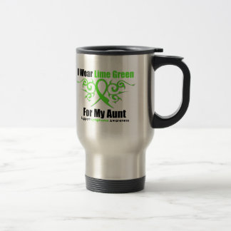 Lymphoma Tribal Ribbon For My Aunt 15 Oz Stainless Steel Travel Mug
