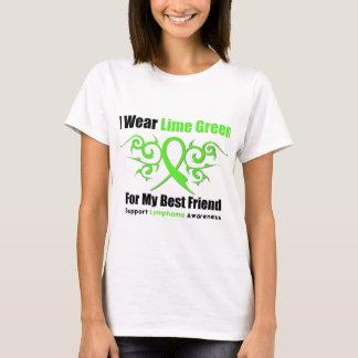 Lymphoma Tribal Ribbon For My Best Friend T-Shirt