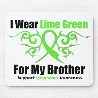 Lymphoma Tribal Ribbon For My Brother Mouse Pad