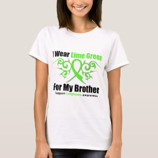 Lymphoma Tribal Ribbon For My Brother T-Shirt