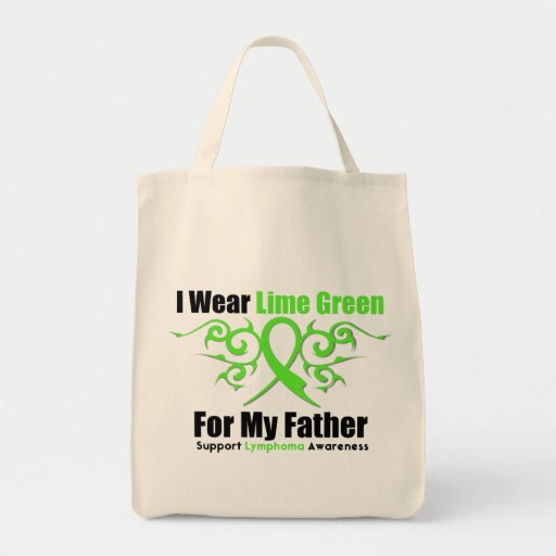 Lymphoma Tribal Ribbon For My Father Canvas Bags