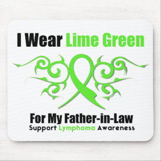 Lymphoma Tribal Ribbon For My Father in Law Mouse Pad