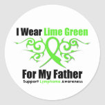 Lymphoma Tribal Ribbon For My Father Classic Round Sticker