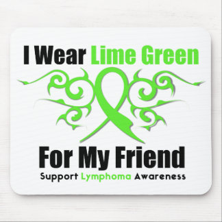 Lymphoma Tribal Ribbon For My Friend Mouse Pad