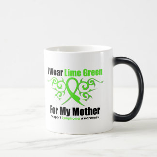 Lymphoma Tribal Ribbon For My Mother 11 Oz Magic Heat Color-Changing Coffee Mug