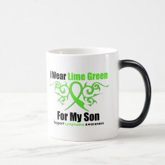 Lymphoma Tribal Ribbon For My Son 11 Oz Magic Heat Color-Changing Coffee Mug