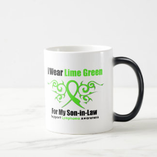 Lymphoma Tribal Ribbon For My Son in Law 11 Oz Magic Heat Color-Changing Coffee Mug