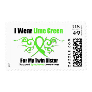 Lymphoma Tribal Ribbon For My Twin Sister Postage Stamps