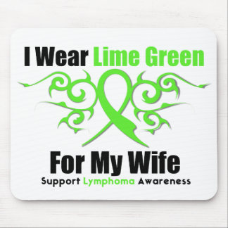 Lymphoma Tribal Ribbon For My Wife Mouse Pad