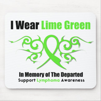Lymphoma Tribal Ribbon For The Departed Mouse Pad
