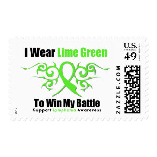 Lymphoma Tribal Ribbon To Win My Battle Postage