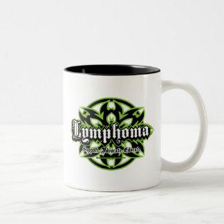 Lymphoma Tribal Two-Tone Coffee Mug