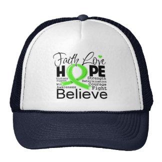 Lymphoma Typographic Faith Love Hope Trucker Hat