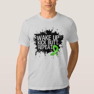 Lymphoma Wake Up Kick Butt Repeat T-Shirt