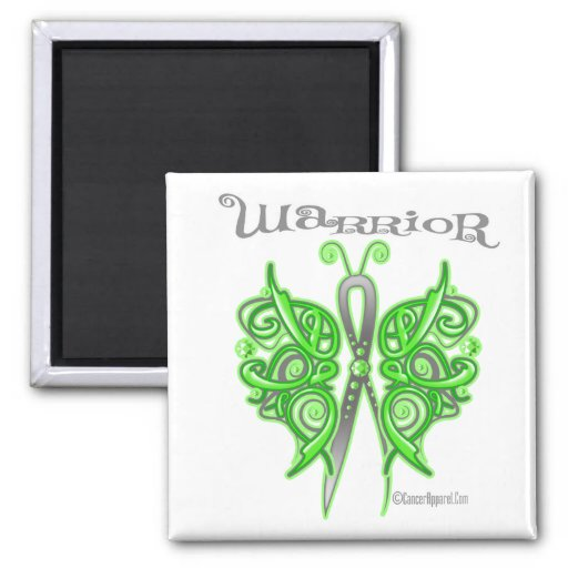 Lymphoma Warrior Celtic Butterfly 2 Inch Square Magnet