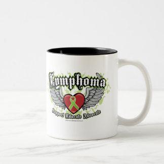 Lymphoma Wings Two-Tone Coffee Mug